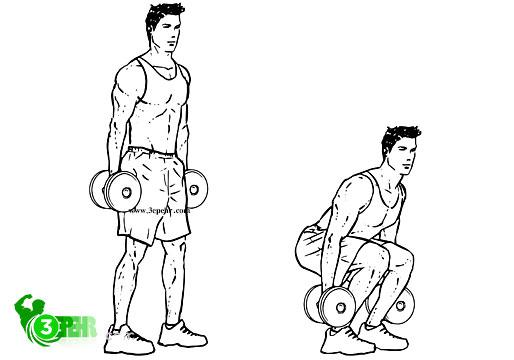10 حرکت تا رسیدن به تناسب اندام در منزل ، در حال انجام دادن حرکت پوش پرس است که در دو دست خود دمبل در دست دارد و در حال انجام  دو مرحله ی بلند شدن و پایین آمدن بدن خود است