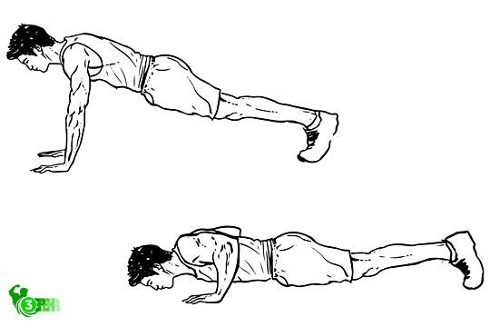 10 حرکت تا رسیدن به تناسب اندام در منزل ،در حال انجام دادن حرکت شنا  و این حرکت دارای دو مرحله است پایین رفتن و بالا آمدن