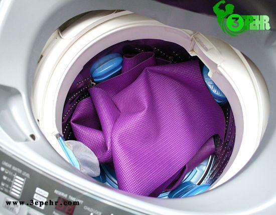 مت یوگا درون یک ماشین لباسشویی قرار گرفت است ،11 نکته ی طلایی برای شستشوی مت یوگا